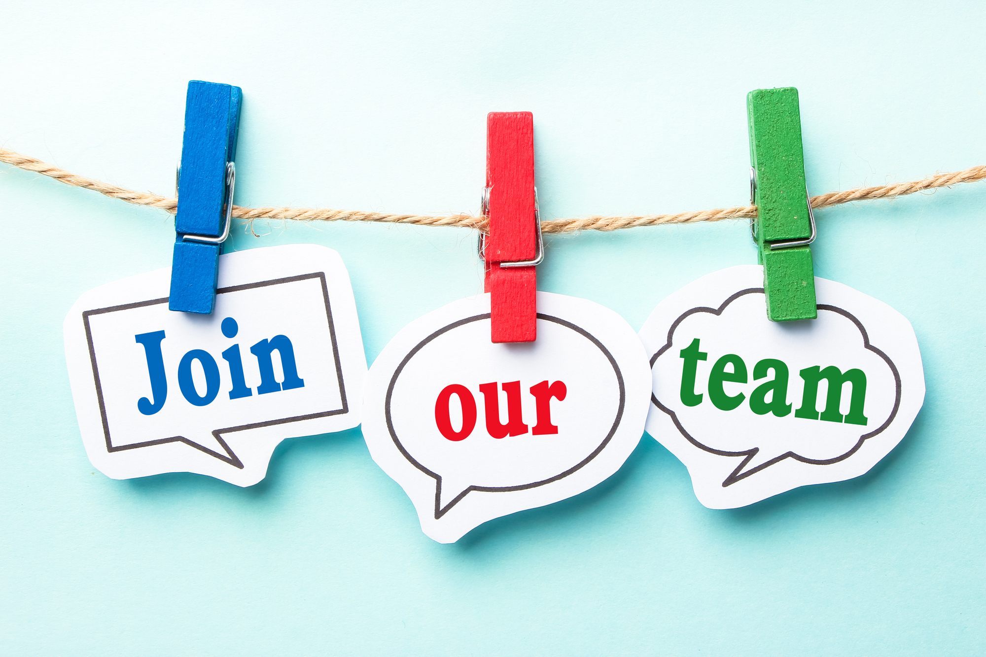 Join Our Team On Clothes Pins In Colors For Apartment Staffing Companies Looking To Hire