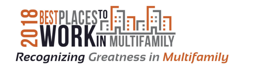 2018 Best places to work in multifamily recognizing greatness logo