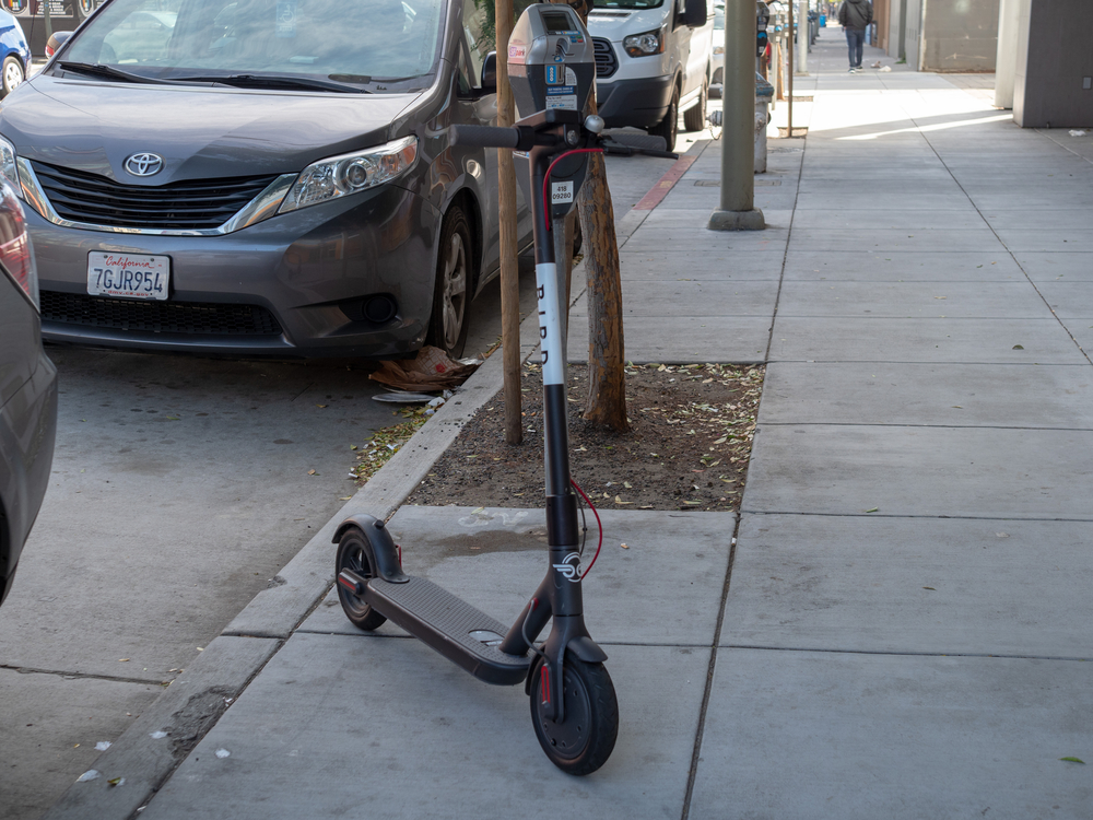 Bird Scooter Parked On Side For Multifamily Properties E-Scooter Policies Blog
