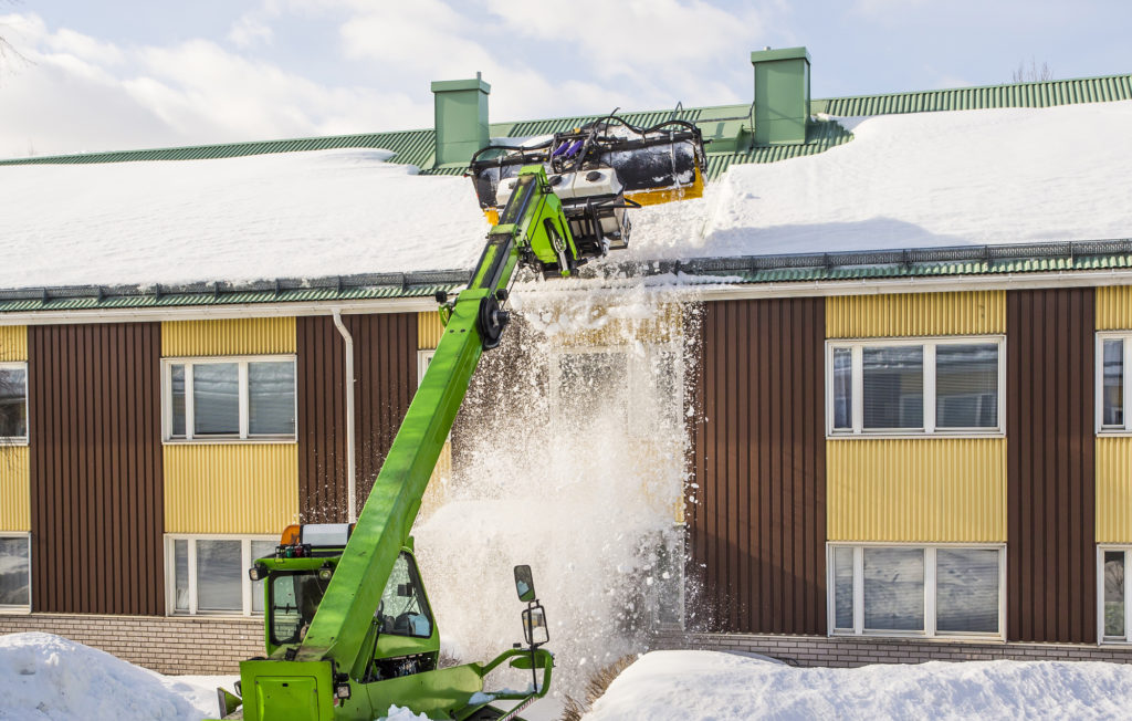 Backhoe Removing Snow For Questions For Commercial Snow Removal Companies Blog